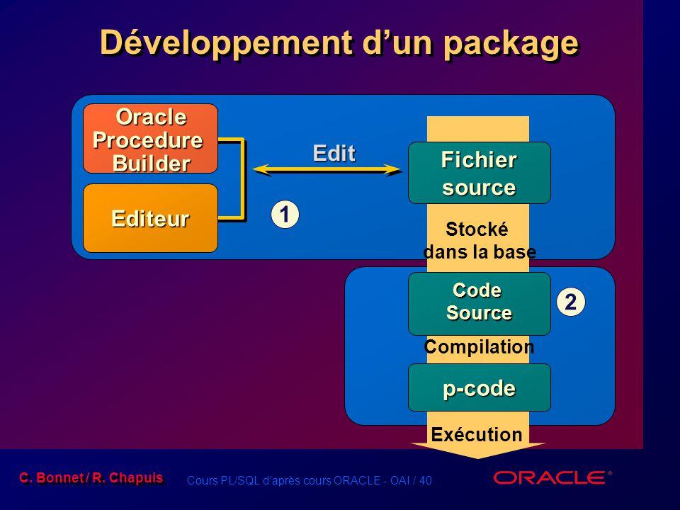 Développement d'un package
