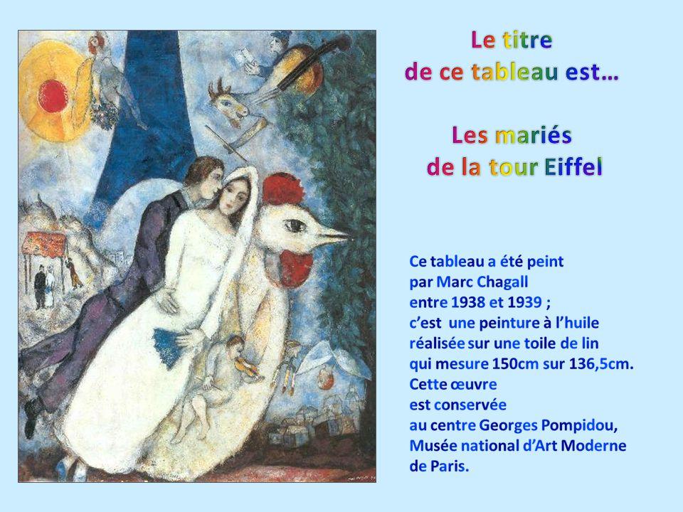 Le titre de ce tableau est… Les mariés de la tour Eiffel