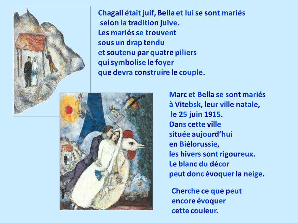 Chagall était juif, Bella et lui se sont mariés