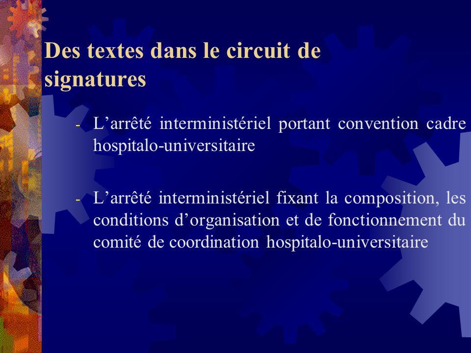 Des textes dans le circuit de signatures