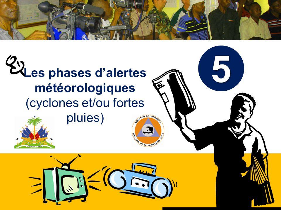 Les phases d'alertes météorologiques (cyclones et/ou fortes pluies)