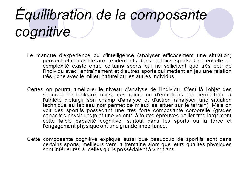 Équilibration de la composante cognitive