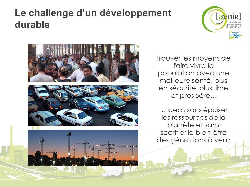 Le challenge d'un développement durable