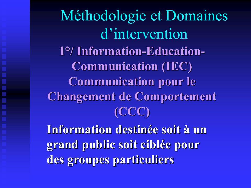 Méthodologie et Domaines d'intervention