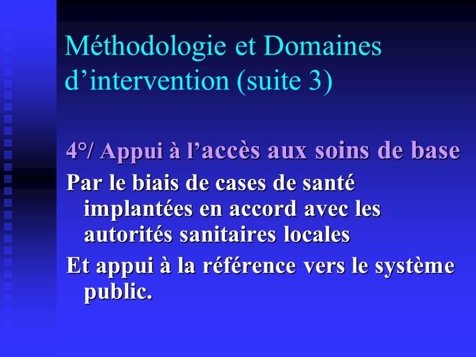 Méthodologie et Domaines d'intervention (suite 3)