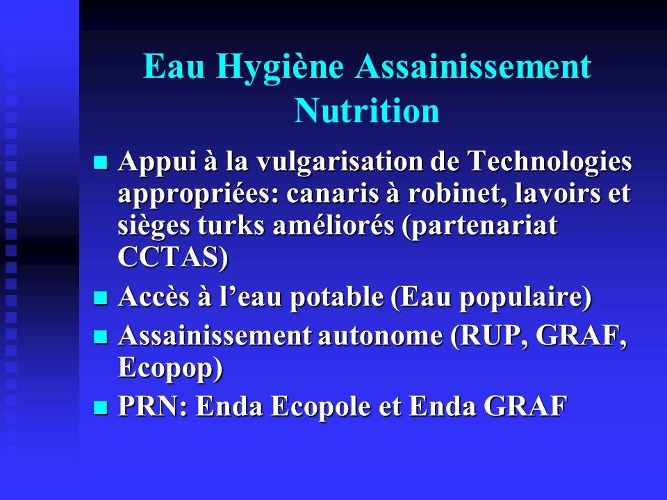 Eau Hygiène Assainissement Nutrition