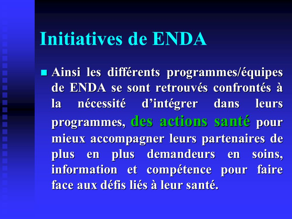 Initiatives de ENDA