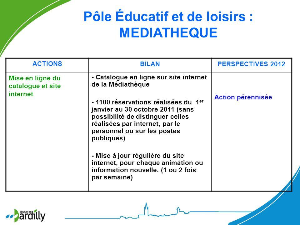 Pôle Éducatif et de loisirs : MEDIATHEQUE