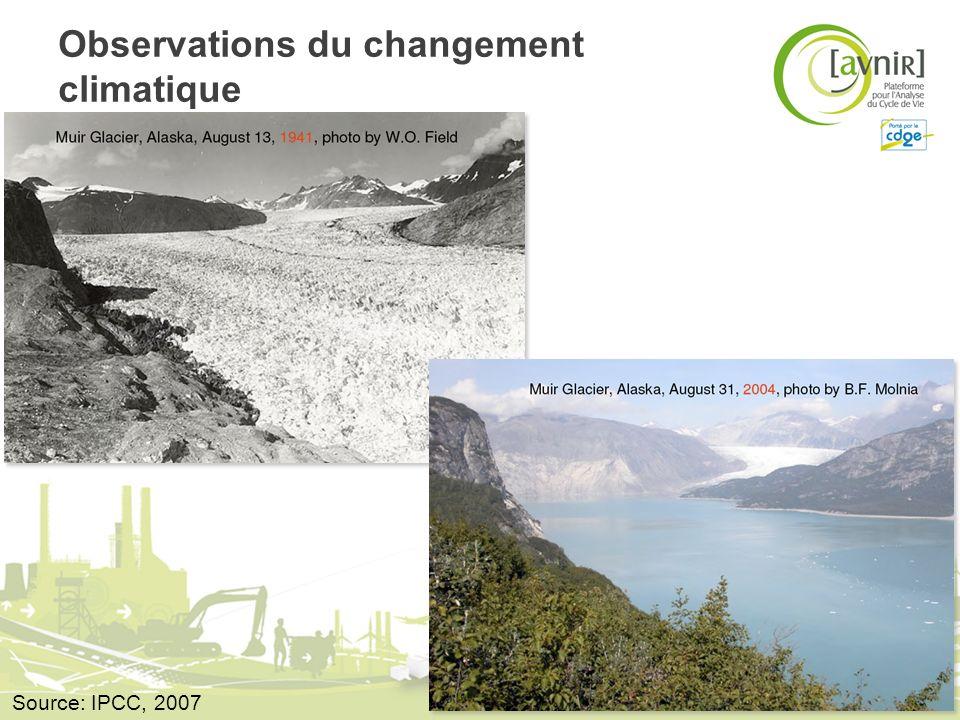 Observations du changement climatique