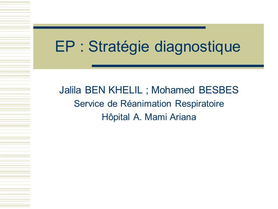 EP : Stratégie diagnostique