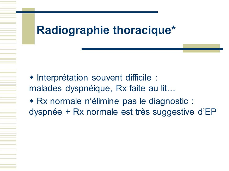 Radiographie thoracique*