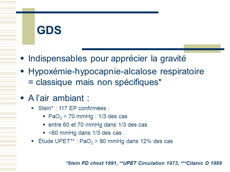 GDS Indispensables pour apprécier la gravité