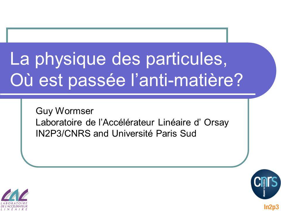 La physique des particules, Où est passée l'anti-matière