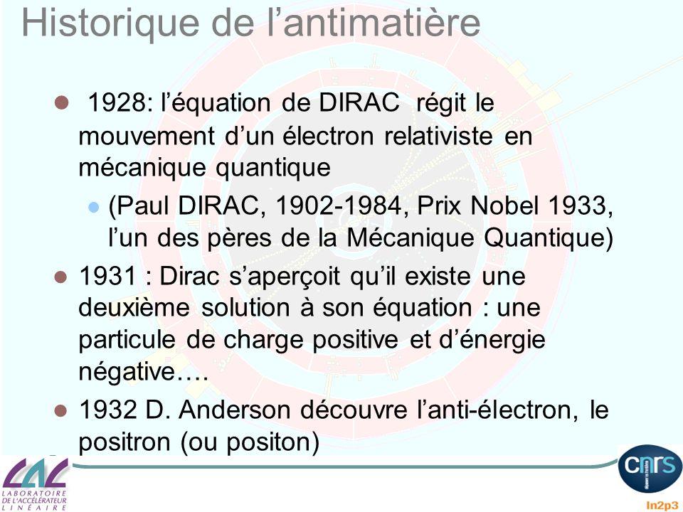 Historique de l'antimatière