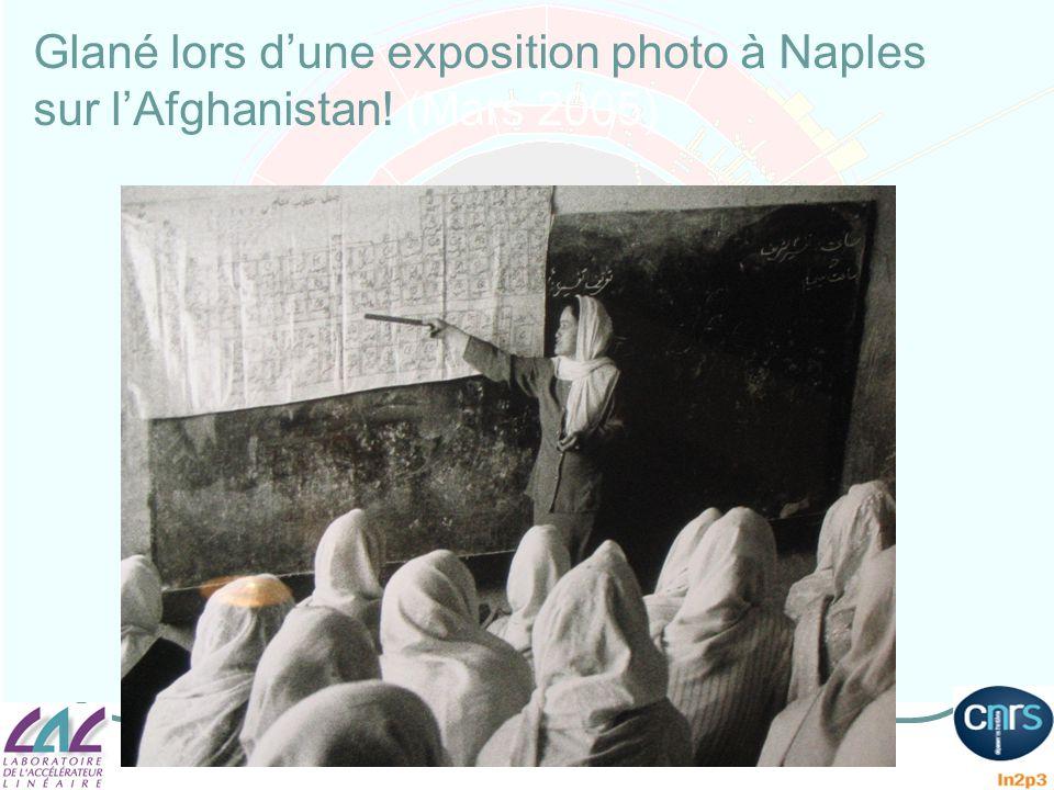 Glané lors d'une exposition photo à Naples sur l'Afghanistan