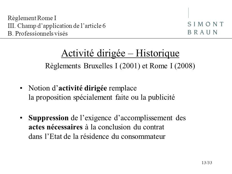 Activité dirigée – Historique