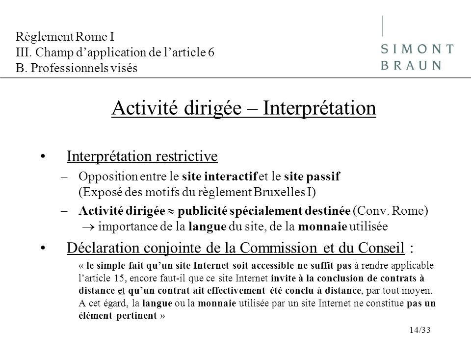 Activité dirigée – Interprétation