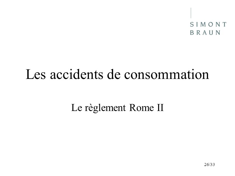Les accidents de consommation