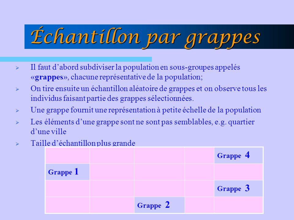 Échantillon par grappes