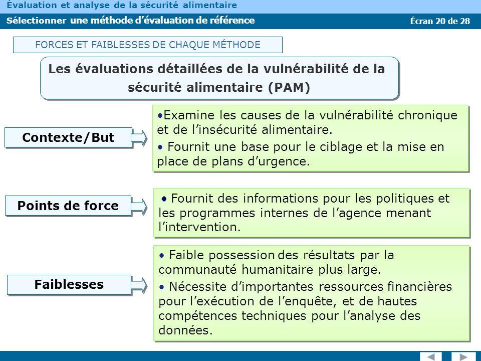 Les évaluations détaillées de la vulnérabilité de la