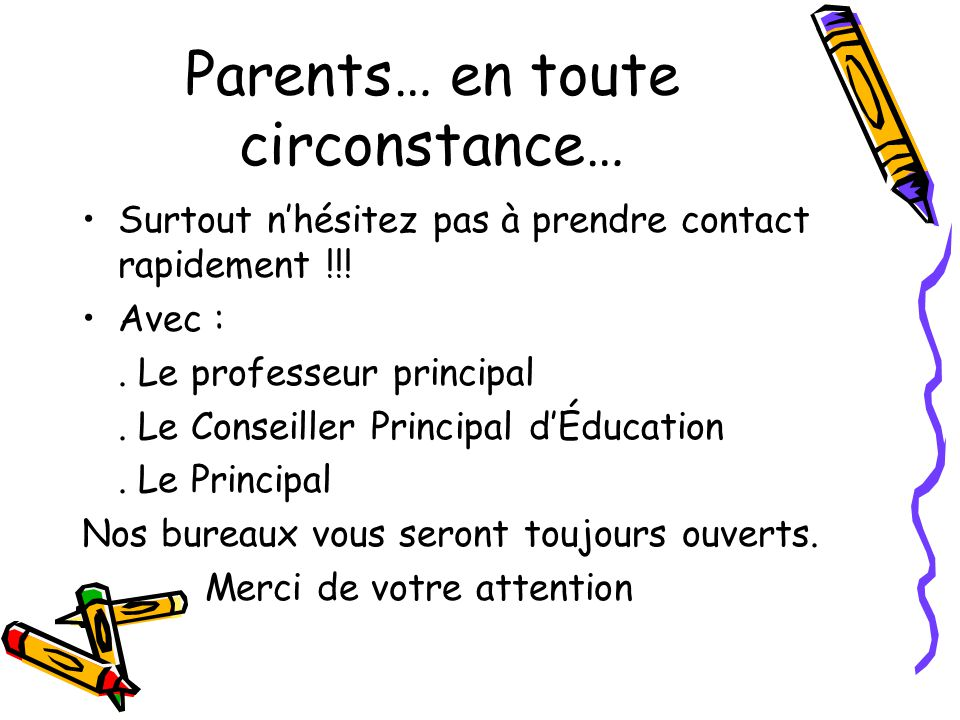 Parents… en toute circonstance…