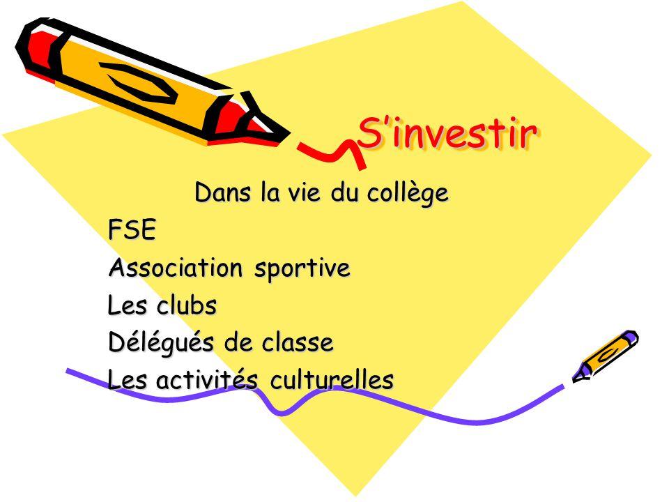 S'investir Dans la vie du collège FSE Association sportive Les clubs