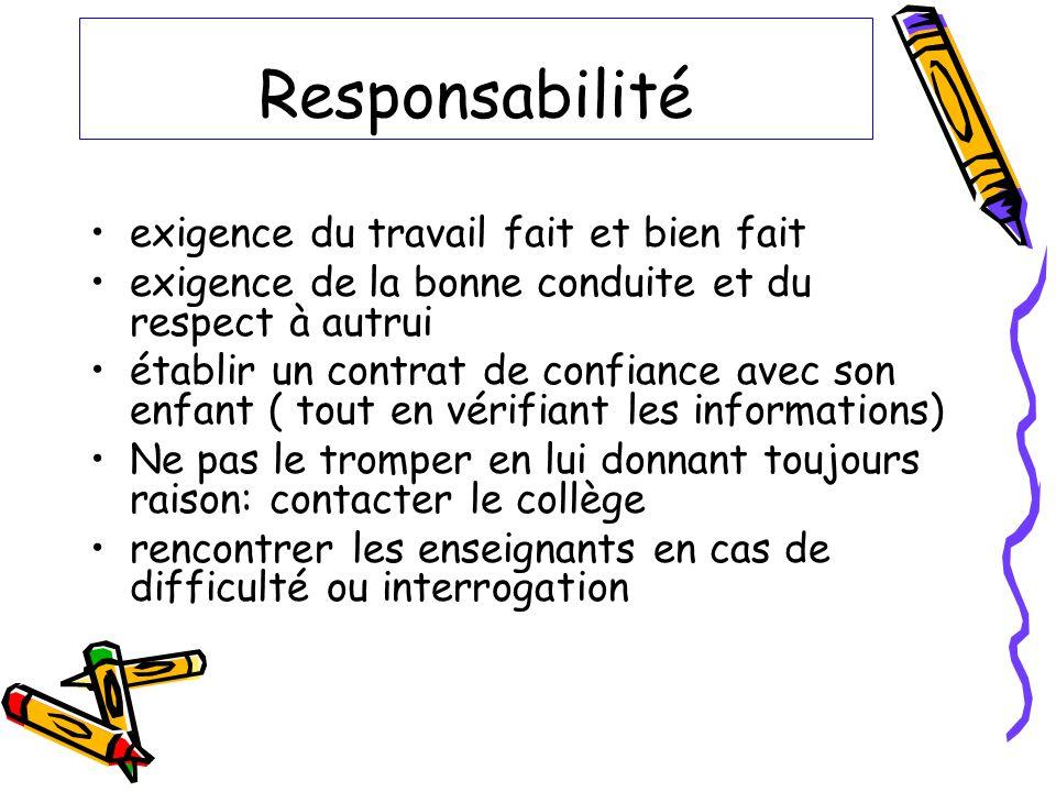 Responsabilité exigence du travail fait et bien fait