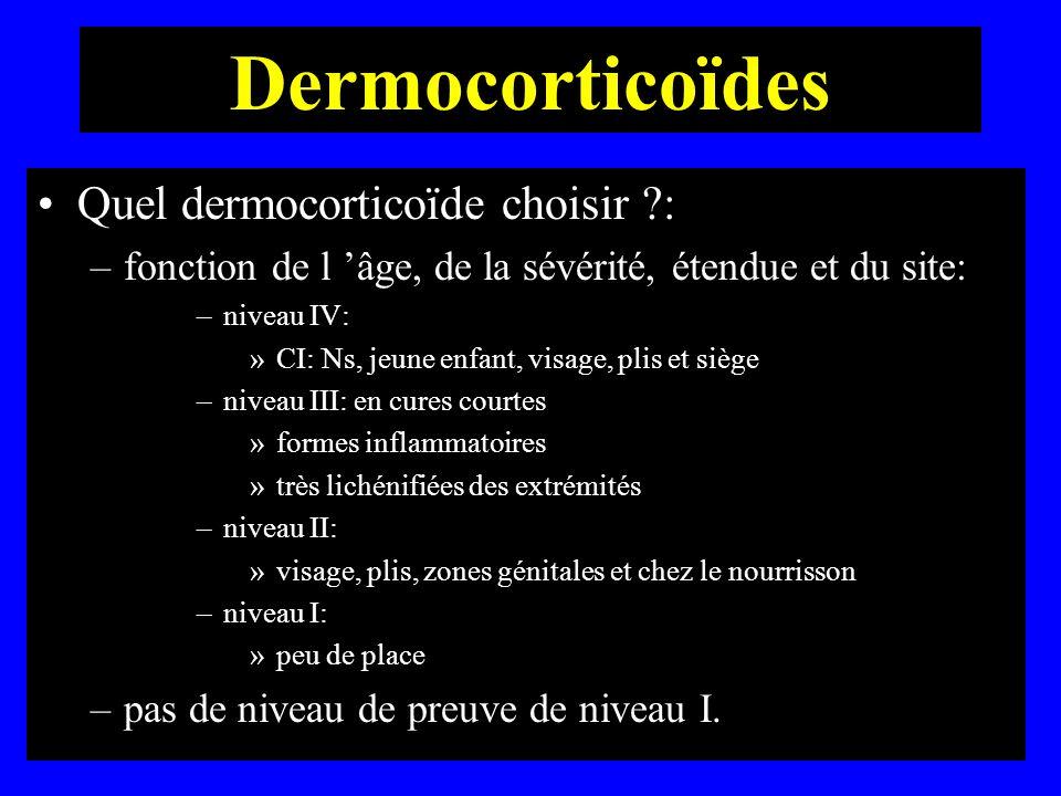 Dermocorticoïdes Quel dermocorticoïde choisir :