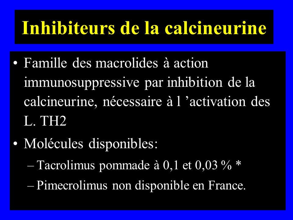 Inhibiteurs de la calcineurine