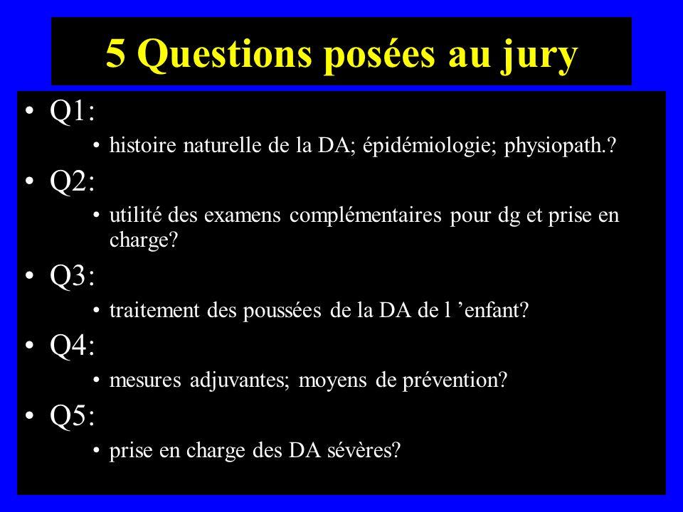 5 Questions posées au jury