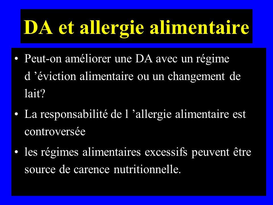 DA et allergie alimentaire