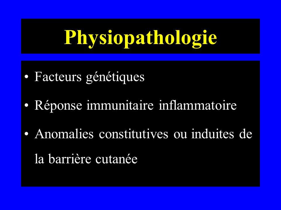 Physiopathologie Facteurs génétiques Réponse immunitaire inflammatoire