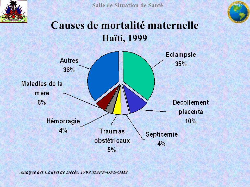 Causes de mortalité maternelle Haïti, 1999