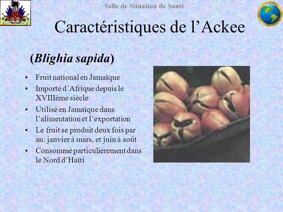 Caractéristiques de l'Ackee