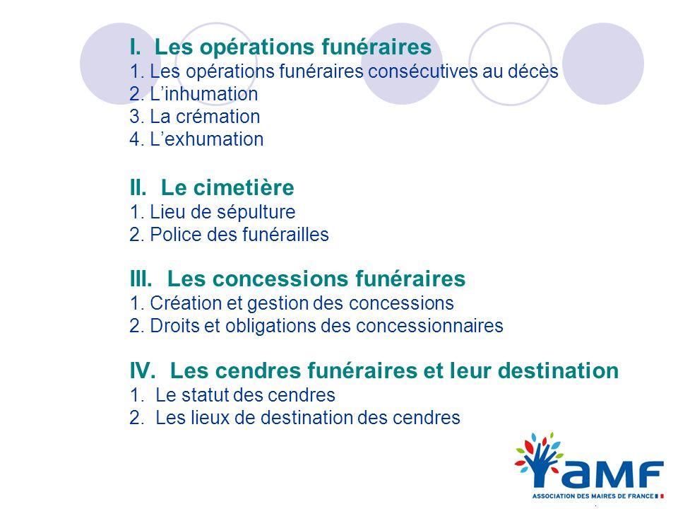 I. Les opérations funéraires 1