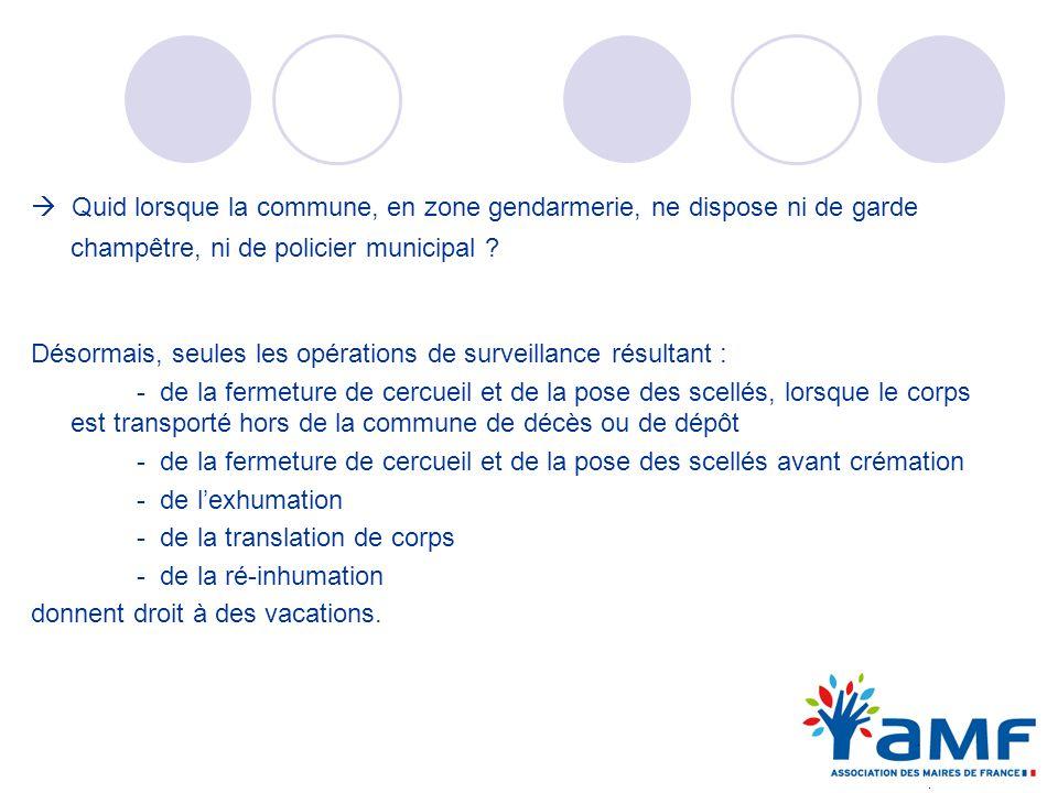 Quid lorsque la commune, en zone gendarmerie, ne dispose ni de garde champêtre, ni de policier municipal