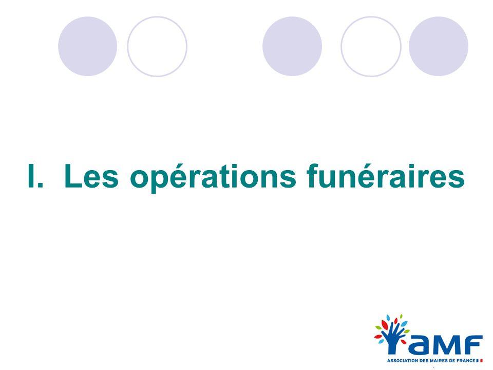 I. Les opérations funéraires