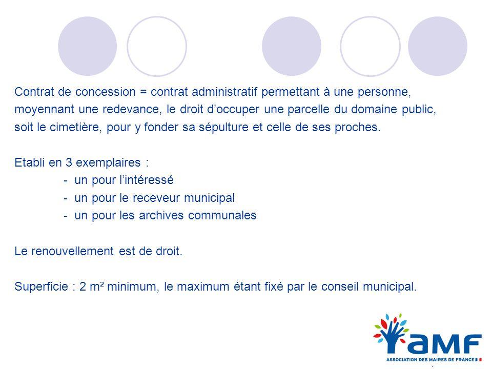 Contrat de concession = contrat administratif permettant à une personne,