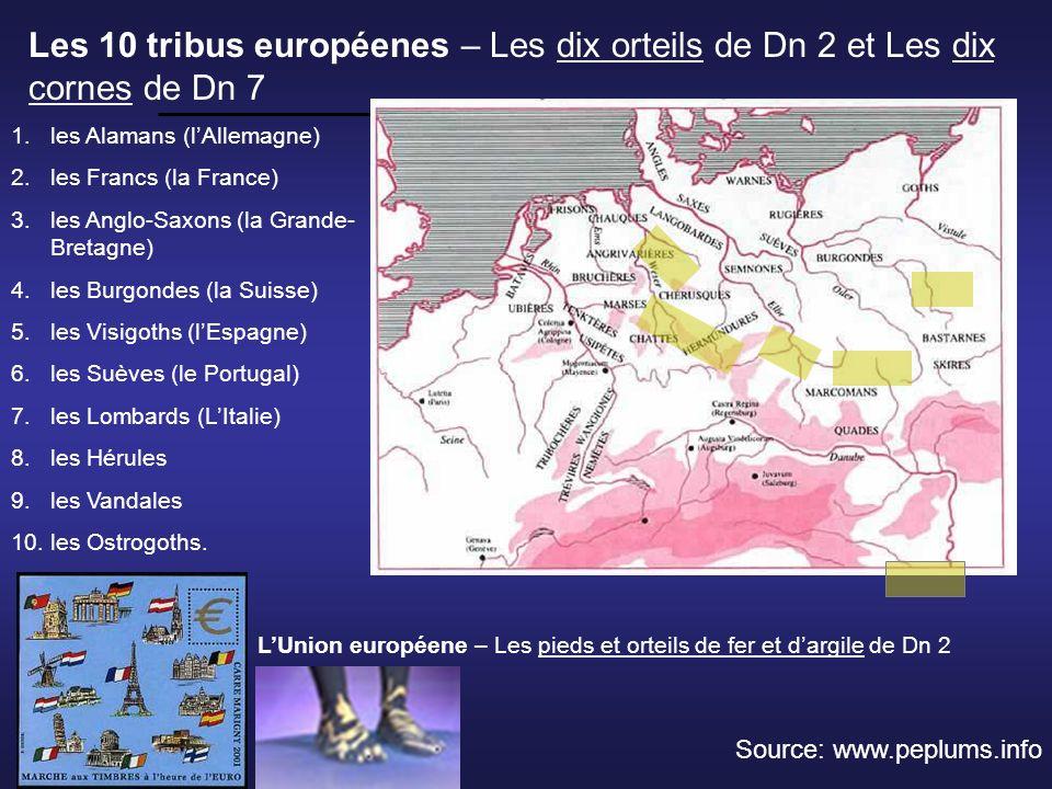 Les 10 tribus européenes – Les dix orteils de Dn 2 et Les dix cornes de Dn 7