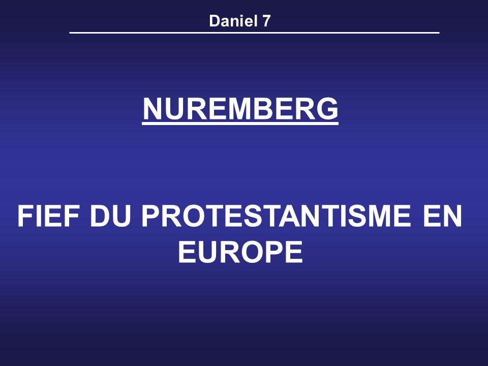 FIEF DU PROTESTANTISME EN EUROPE