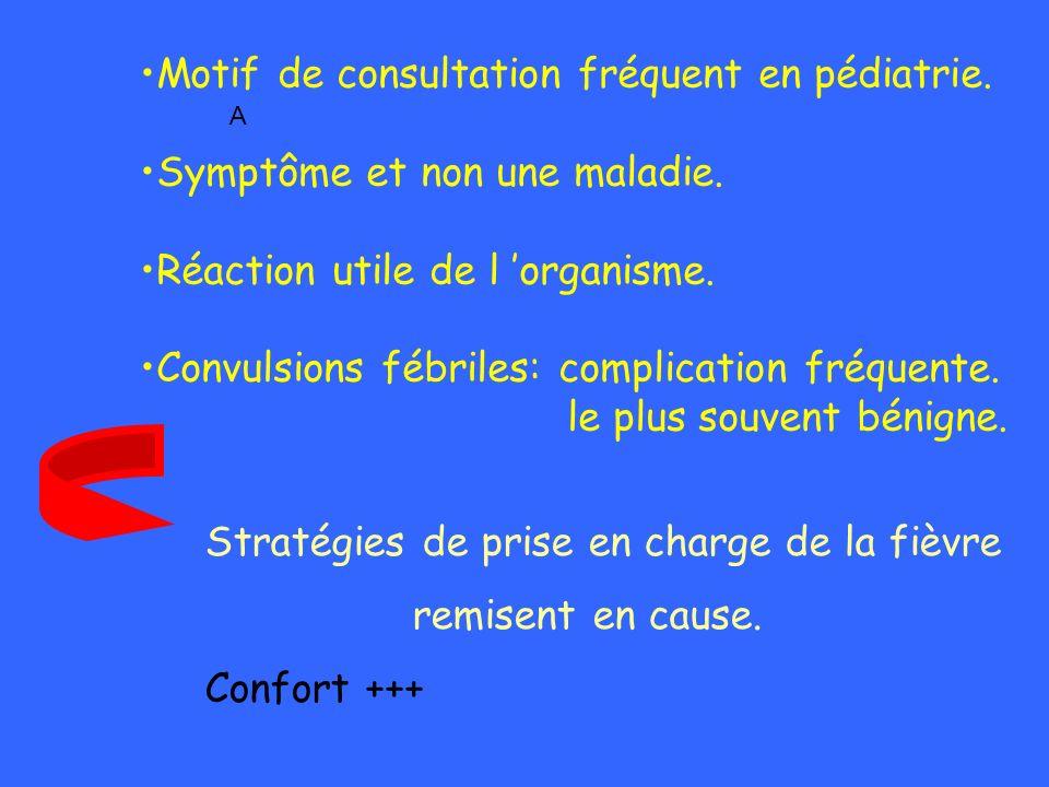Motif de consultation fréquent en pédiatrie.