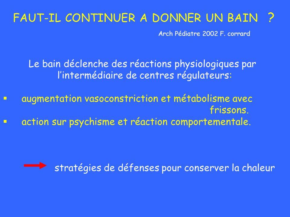 FAUT-IL CONTINUER A DONNER UN BAIN Arch Pédiatre 2002 F. corrard
