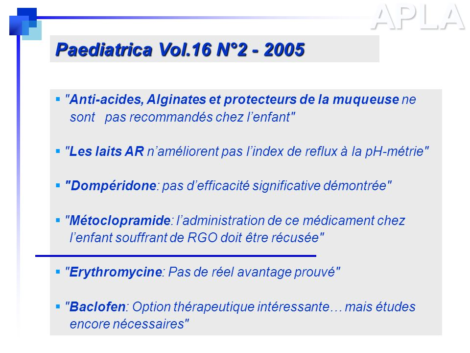 APLA Paediatrica Vol.16 N°2 - 2005