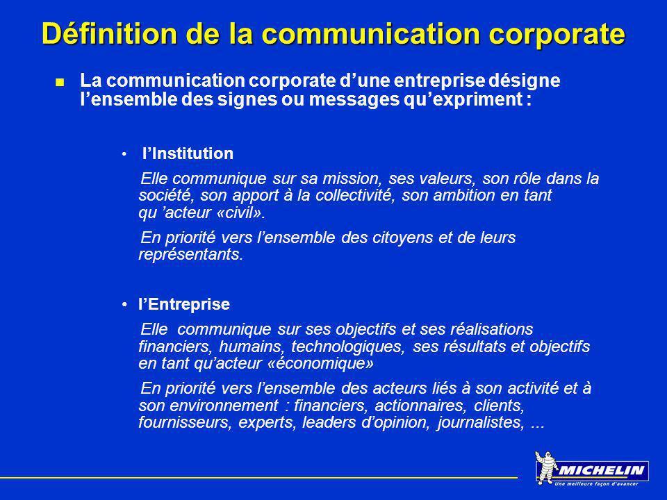 Définition de la communication corporate