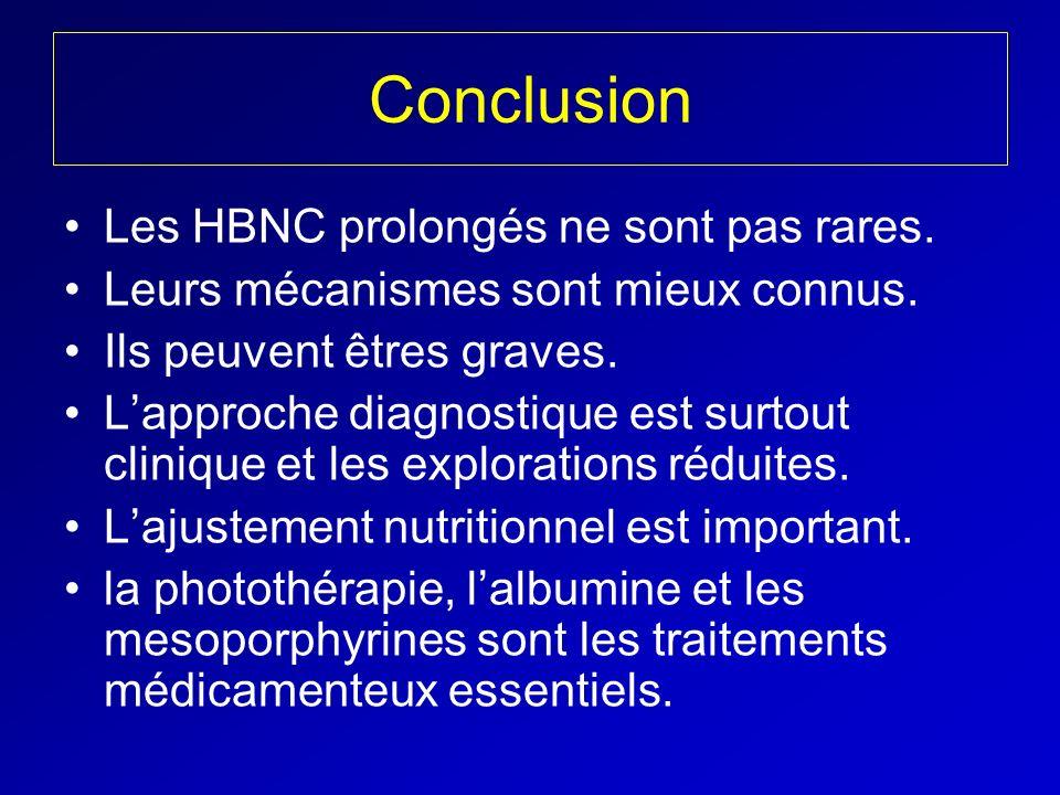 Conclusion Les HBNC prolongés ne sont pas rares.