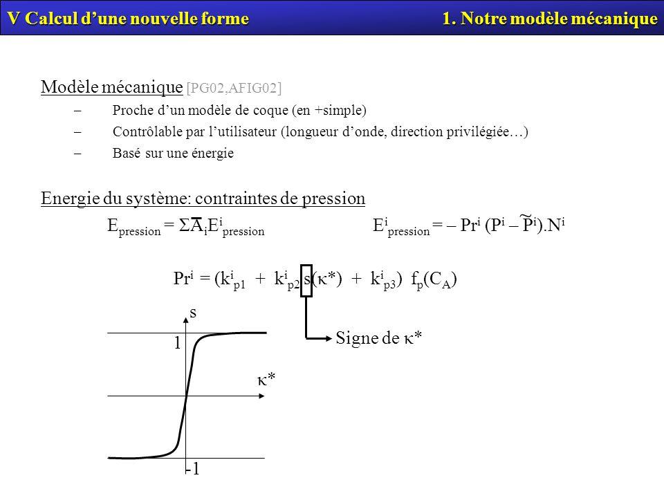 ~ V Calcul d'une nouvelle forme 1. Notre modèle mécanique