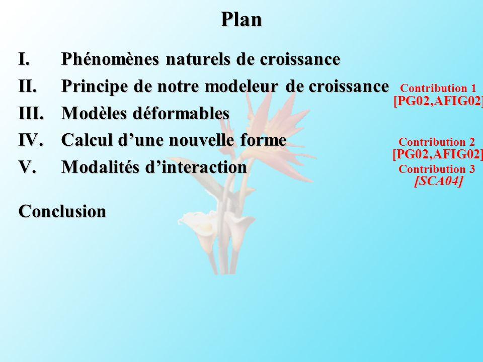 Plan Phénomènes naturels de croissance
