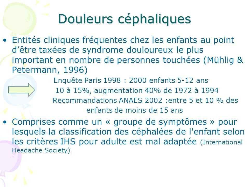 Enquête Paris 1998 : 2000 enfants 5-12 ans
