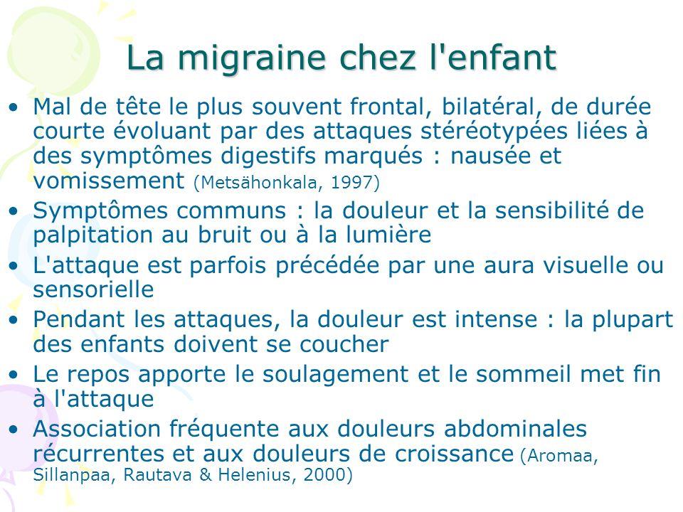 La migraine chez l enfant