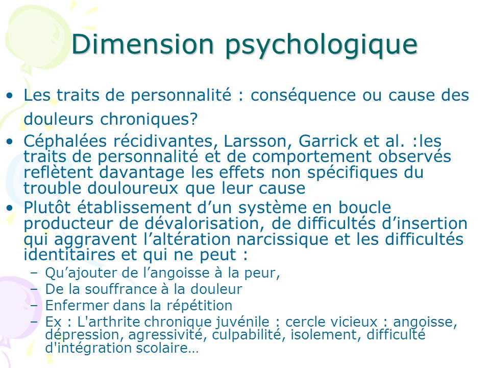 Dimension psychologique